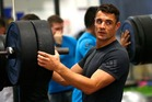Dan Carter and the All Blacks have been putting in work in the gym in the build-up to the clash against Australia. Photo / Getty