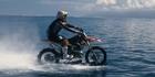 Aussie stuntman rides the waves - on a motorbike