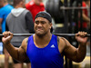 All Black wing Julian Savea during the All Black gym session at Les Mills. Photo / Jason Oxenham