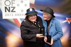 Katikati community advocate Sue Tukaki, left, won the Lifetime Achievement award and Te Puna Quarry Park founder Shirley Sparks won the Environment award. Photo / Andrew Warner