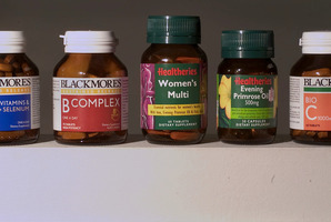 Five of the most popular vitamins sold over the counter in New Zealand. Photo/file
