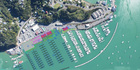 Aerial view showing the planned expansion at Opua Marina. IMAGE / SUPPLIED