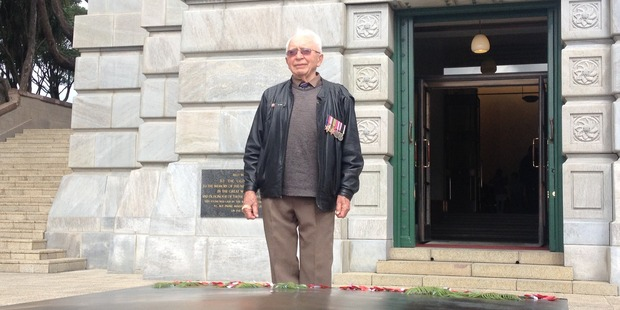 WWII veteran Pip Piper. Photo / John Weekes