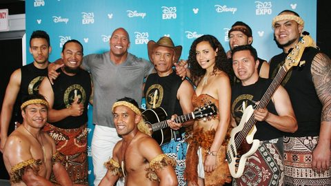 Opetaia, Te Vaka and Dwayne the rock Johnson