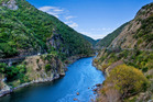 The level path beside Manawatu Gorge is inviting for walkers, cyclists and people with pushchairs or pushing wheelchairs. Photo / Natalie Slade