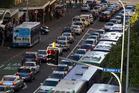 Auckland City commuters in gridlock, view along Albert Street, Auckland CBD.Photo / Brett Phibbs