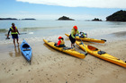 Kayaks will keep the older kids entertained all day. Photo / NZME.