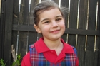 'Miracle baby' Dianthe Barnard is excited at the thought of starting school.