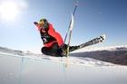 Janina Kuzma soaring above Cardrona. Photo / Getty Images