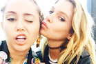 Miley Cyrus with her new girlfriend, Kiwi model Stella Maxwell Photo sourced from Miley Cyrus' instagram - @mileycyrus.