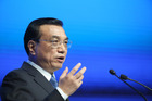Li Keqiang, China's premier, speaks during a session on the opening day of the World Economic Forum. Photo / Bloomberg