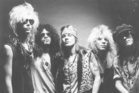 Guns N' Roses. From left to right; Duff