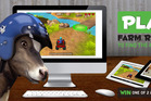 Rosie the cow, mascot for the educational programme and game, teaches players the basic farming activities as well as how to avoid falling into pitfalls.