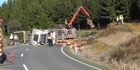 Log truck crash, Mangakahia Rd