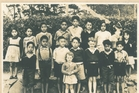 INNOCENTS: A young Dover Samuels (front centre in the dark jersey) at Whakarara Native School in 1949. PHOTO/SUPPLIED