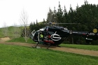 The man was flown by the Lowe Corporation Rescue Helicopter to Hawke's Bay Regional Hospital. Photo / Supplied