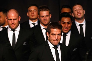 All Black captain Richie McCaw during the New Zealand All Blacks Rugby World Cup team announcement at Parliament. Photo / Getty Images.
