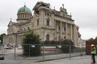 The Cathedral of the Blessed Sacrament, damaged in the Christchurch earthquake. Photo / Geoff Sloan