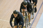 Durban officials say they can't afford a velodrome like the one in which New Zealand enjoyed success at the Glasgow Games. Photo / Greg Bowker
