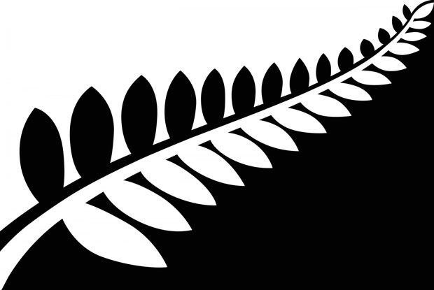 Silver Fern (Black & White) - by Alofi Kanter