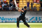 Taken purely on numbers, Jimmy Neesham's a superior test player. Photo /  Mark Mitchell