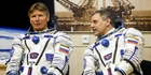 Cosmonauts Gennady Padalka, left, and Mikhail Korniyenko. Photo / AP