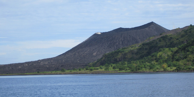 The active volcano Mt Tavurvur buried Rabaul in ash in 1994. Photo / Andrew Stone
