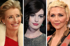 Actress Emma Thompson, Anne Hathaway and Maggie Gyllenhaal. Photo / Getty Images
