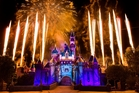 The new Disneyland Forever show goes off with a bang over Sleeping Beauty Castle at Disneyland. Photo / Supplied
