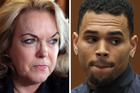 Politician Judith Collins says R&B singer Chris Brown should 'bugger off'. Photo / AP, Getty Images