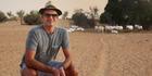 MasterChef's Josh Emett in the Al Mahar Desert. Photo / Supplied