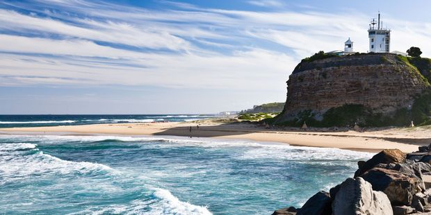 Newcastle's Memorial Walk is a 6km stroll from the city beaches to Nobbys Beach. Photo / 123RF