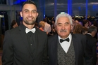 Shaun Rankin (left) and Jim Edwards at the Pride of NZ national awards, at Auckland Museum last night. Photo / Greg Bowker