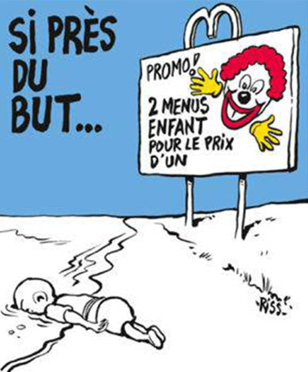 Critics claim Charlie Hebdo has overstepped the mark. Photo / Charlie Hebdo