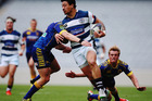 Ben Lam makes a break during Auckland's win over Otago. Photo / Getty