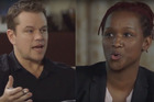 Matt Damon explains diversity to Effie Brown during an episode of Project Greenlight. Photo/YouTube
