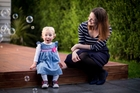 Dr Hannah Noel with Elise, now aged 21 months; Father Jared was able to spend nine precious months with his daughter. Photo / Dean Purcell