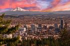 Weirdness awakes: Portland at sunrise. Photo / 123RF