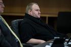 Kim Dotcom in the Auckland District Court. Photo / Jason Oxenham, NZ Herald