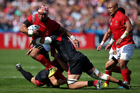 Tonga in action against Georgia during the 2015 Rugby World Cup. Photo / Getty Images