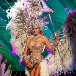 Miss Universe 2015: National costumes Miss Argentina, Valentina Ferrer. Photo / AP