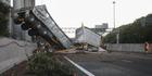 View: Truck crashes through barrier