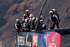 Emirates Team New Zealand before their race against Oracle Team USA, in Race 16 of the America's Cup, on San Francisco Bay, United States of America. Photo / Brett Phibbs.