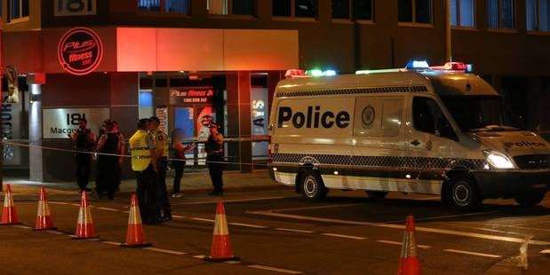 Police at the scene of the shooting. Photo / NSW Police Force