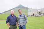 New series host Chris Moller, right, with Catlins farmer Lachlan McDonald.