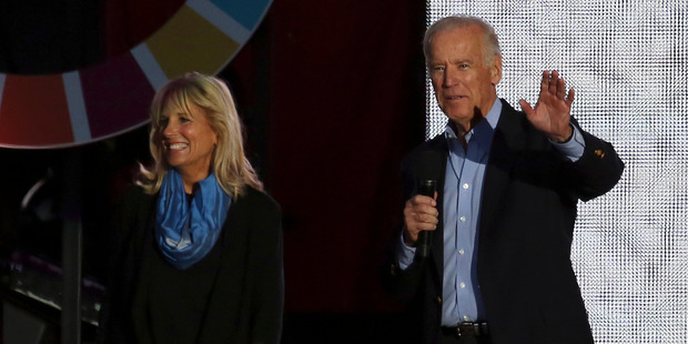 US Vice President Joe Biden and his wife Jill at the event. Photo / AP