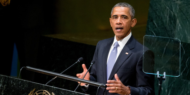 President Barack Obama speaks before the 70th Session of the United Nations General Assembly. Photo / AP