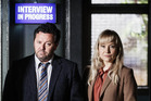 Neill Rea as DSS Mike Shepherd and Fern Sutherland as Detective Kristin Sims in The Brokenwood Mysteries.