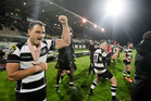 Israel Dagg celebrated Hawke's Bay's Ranfurly Shield defence with a dislocated shoulder. Photo / Paul Taylor