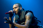 Chris Brown performs at Vector Arena in 2008.